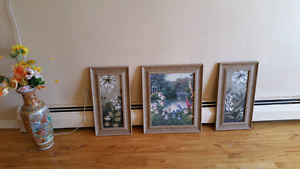 Various paintings and decorations from 10$ to 40$ excellent cond