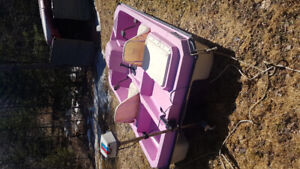 Peddle boat with trolling motor