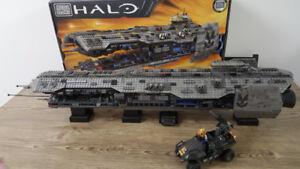 Halo Mega Bloks Forward Unto Dawn & UNSC Gausshog Attack
