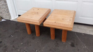 SOLID PINE WOOD END COFFEE TABLES