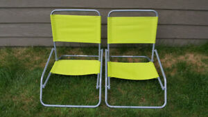 2 Folding Beach chairs