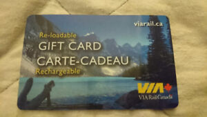 $300 Via Rail Giftcard (GC) for $250 OR trade for other gc