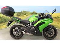 Kawasaki ER6F 2014 ** Givi Top Box, 1153 Miles, Datatag