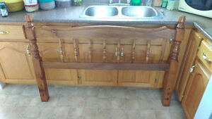Double wooden Headboard good condition