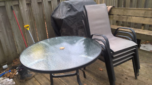 Garden Patio table with 4 chairs set