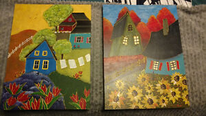 2 wooden art pieces done by hand for sale Gatineau Ottawa / Gatineau Area image 1