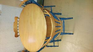 5 Piece Round solid wood Dining set