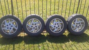 chev/gm/pontiac aluminum rims & great summer tires
