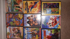 Various dvds. 5.00 each or 3.for 10.00,