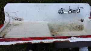 Antique bathroom sink porcelain over cast. Peterborough Peterborough Area image 5