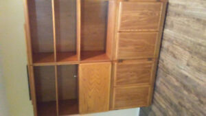 Solid wood wall units
