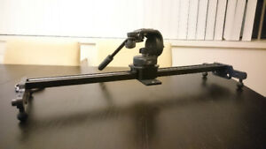 """Cinevate Atlas 10 Slider 26"""" and Manfrotto Pro Head 128RC"""