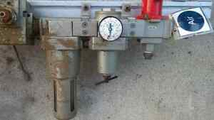 air regulator, filter, and valve