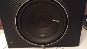 "ROCKFORD FOSGATE PUNCH P400-1 and 12"" P2 Sub in Box"