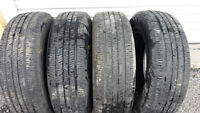 4 Continental 205 70 16 all season tires   9 32nd