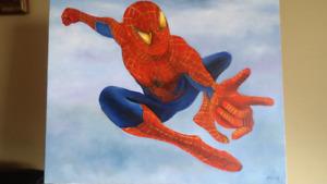 200$ Peinture chambre d'enfant spiderman
