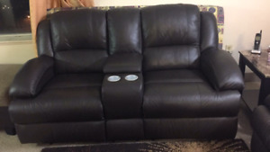 Leather recliner sofa and love seat-9/10 condition