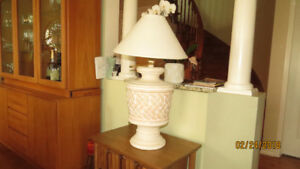 night table lamp+free standing lamp