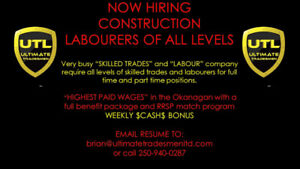 CONSTRUCTION LABOURERS WANTED