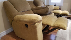 Reclining Couch and Reclining Swivel Chair