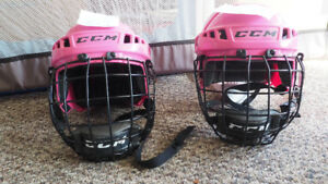 Girls' hockey helmets