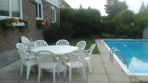 "60"" Octagonal Patio Set - Chairs and Extras Incl."
