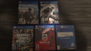 used PS4 games $10 for each