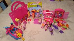 Minis poupées Polly Pocket voiture et jeep