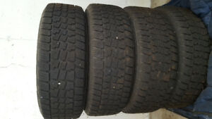 Avalanche snow tires on rims