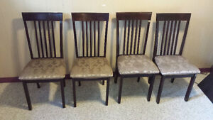 4 Custioned Dining Chairs