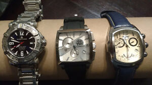 3 High Quality watches! Chase Durer, Invicta, Swiss