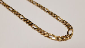 """20"""" Figaro Link Gold Chain"""