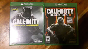 Call Of Duty Black Ops 3 and Infinite Warfare XBOX ONE
