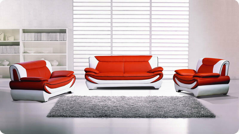 3 Pc Modern Sofa Loveseat Chair Living Room Set