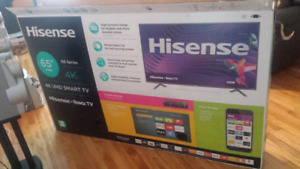 65 inch 4k tv hinsese with roku : $625 ..call 438 930 9115