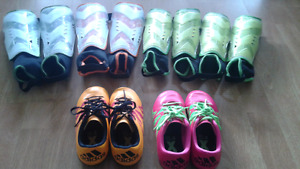 Kids Soccer Cleats and Pads