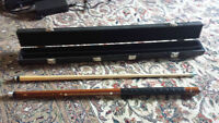 Custom Leather Wrapped Pool Cue - high quality