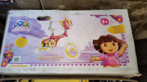 BRAND NEW girl's Dora Bicycle, 30 cm/ 12 inch, ages 3+