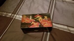Hand painted Jewelry Box - Musical - PRICE DROP