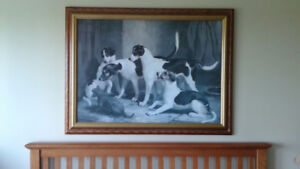 picture of dogs on canvas