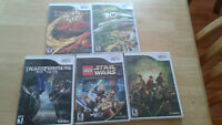5 Wii Games (Can be used with Wii U)