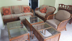 7 Peices Wicker set