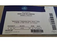 2 x WWE Live Tickets at the O2 - 7.9.16 PRICE REDUCED