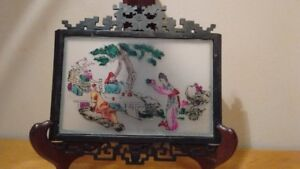 Old Chinese Paintings On Glass, Framed,total 8 pieces