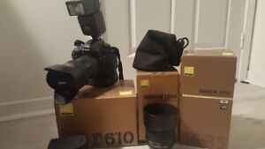 Nikon D610 with extras