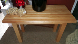 Custom made wooden table, very well built and solid