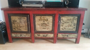 Antique Style Chinese Hutch