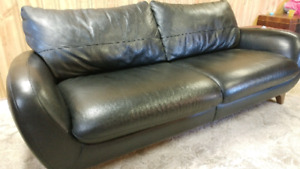 Leather sofa/couch