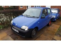 2001 Fiat Seicento S | 1.1L | 62,000 miles | Capri Blue | Great first car - cheap insurance