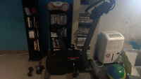 Exercise Bike. Works great. kms/cal/time/Hear rate etc.